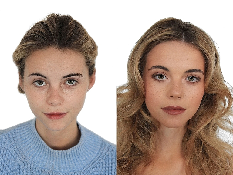 Jenn Edwards hair makeup transformations before and after